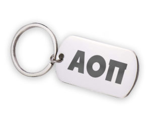 AOII-stainlessletterskeychain