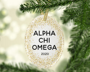 AXO-goldfleckovalornament