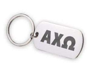 AXO-stainlessletterskeychain