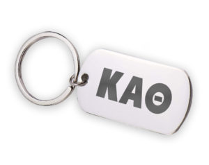 KAO-stainlessletterskeychain