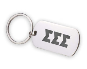 TRISIGMA-stainlessletterskeychain