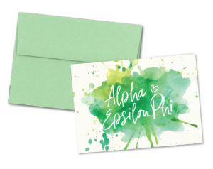 aephiwatercolorscriptnotecard