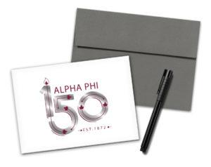 alphaphi-150yearslogonotecard