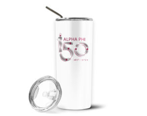 alphaphi-150yearslogostainlesstumblerwithstraw