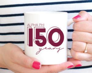 alphaphi-150yearsmug
