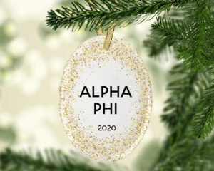 alphaphi-goldfleckovalornament