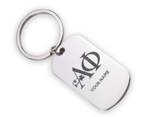 alphaphi-logostainlesskeychain