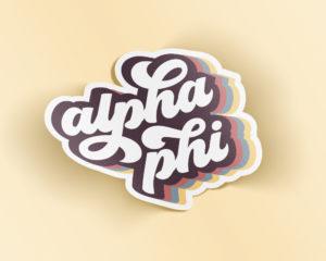 alphaphi-retrosticker