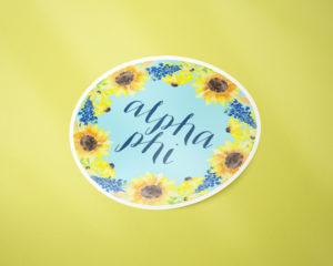 alphaphi-sunflowersticker