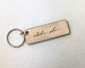 alphaphi-woodenscriptkeychain