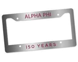 alphaphi150yearslicenseplateframe