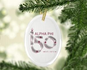 alphaphi150yearslogoornament