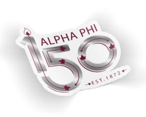 alphaphi150yearslogosticker