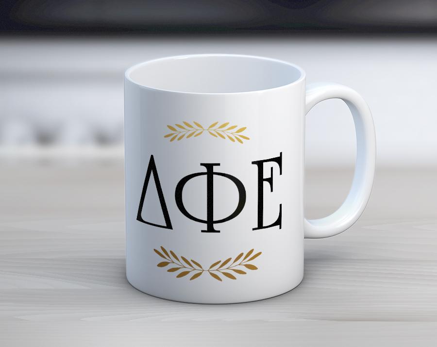 DPhiE Letters Mug. dphielettersmug