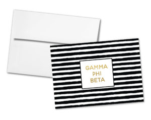 gpbstripedgoldnotecard