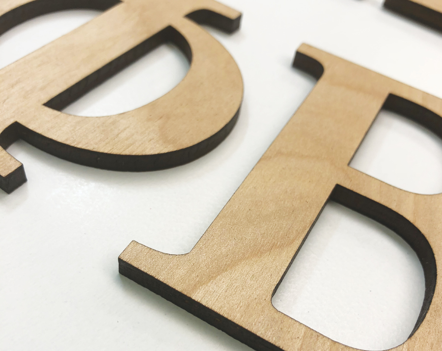 Wood Greek Letter