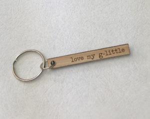 lovemyglittle-woodenskinnykeychain