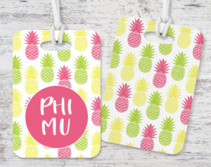 phimupineapplesluggagetag
