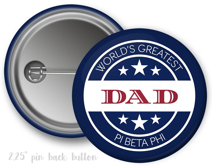 Piphi Dad Button Uptown Greek