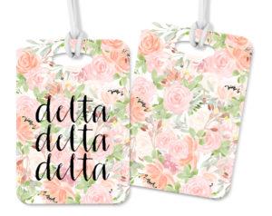 tridelta-pinkfloralluggagetag