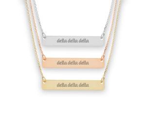 tridelta-script-barnecklace
