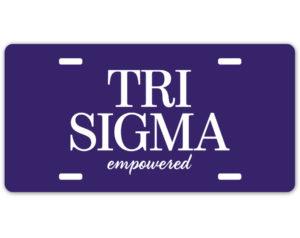 trisigma-logolicenseplate