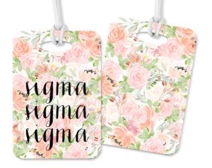 trisigma-pinkfloralluggagetag